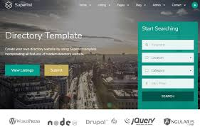 top 5 business company directory listing html5 templates
