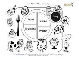 color my plate dairy coloring page nutrition worksheets and