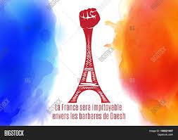 Paris Flag Pray Paris France Eiffel Tower Vector U0026 Photo Bigstock