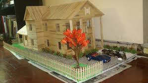 popsicle stick house with landscape slideshow youtube