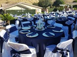 Navy Blue Table L Navy Blue 23 L Amour 120 Inch Tablecloth Tradesy