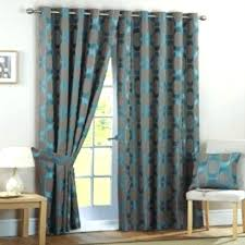 turquoise window curtains embroidery velvet shabby chic turquoise