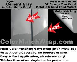 new toyota cement gray 1h5 in a vinyl wrap paint color matching