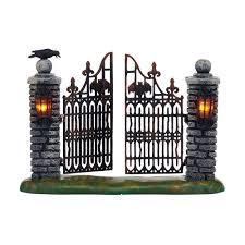 department 56 halloween village spooky wrought iron gate