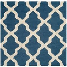 5 Foot Square Rug Safavieh Cambridge Navy Ivory 4 Ft X 4 Ft Square Area Rug