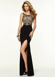Dresses For Prom Elegant La Femme 18566 Black Beaded Sweetheart Neckline Prom Gown