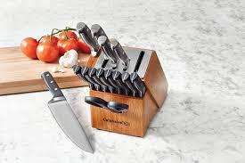 calphalon kitchen knives amazon com calphalon self sharpening 15 pc cutlery knife