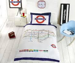 underground london undgerground tube duvet cover and pillowcases