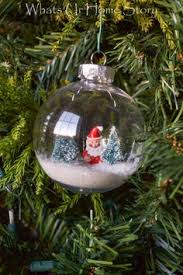 snow globe ornament diy snow globe bottle brush trees and snow
