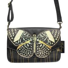 bohemia black butterfly clutch bag at flamingo gifts