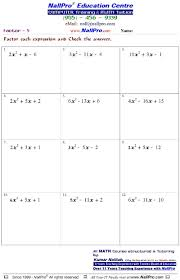 collections of free printable math worksheets for 10th grade