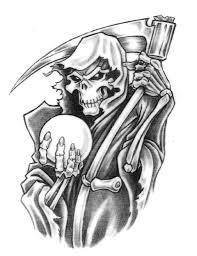 grim reaper eight ball tattoo design photo 2 2017 real photo