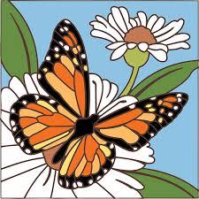 6x6 monarch butterfly on flower light from n