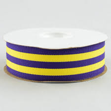 gross grain ribbon 1 5 purple gold striped grosgrain ribbon 25 yards 4917 c05