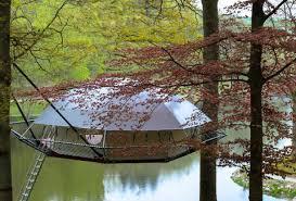 dom up suspension tree house tent cabin thrillist