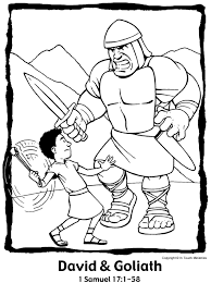 samuel coloring pages from the bible david and goliath http children pfcblogs com bible stories david