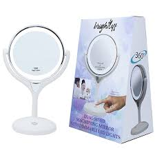 bright light magnifying mirror brightlyf double sided 10x magnifying makeup cosmetic vanity mirror