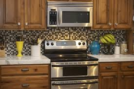 kitchen backsplash ideas with oak cabinets yellow pattern moroccan