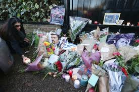 george michael fans lay floral tributes as charities reveal