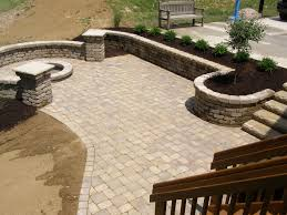 Simple Brick Patio With Circle Paver Kit Patio Designs And Ideas by Landscaping Walmart Landscaping Bricks For Natural Backyard And
