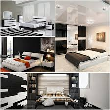 complete bedroom in black and white hum ideas