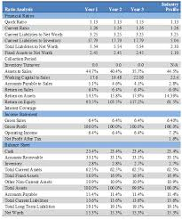 financial plan template business ratios 7 0 financial plan page