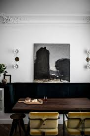dining area in a masculine elegant paris home by jean charles