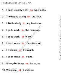 prepositions worksheet3 esl efl worksheets grade 1 worksheets