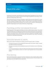 ib psychology syllabus guide ib psychology