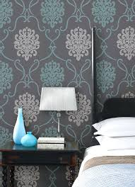 textured accent wall grey and turquoise wallpaper baroque wallpapers u2013 kargo