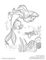 92 ariel flounder coloring pages little mermaid ariel with
