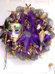 large mardi gras large mardi gras wreath with beautiful mask and fleur