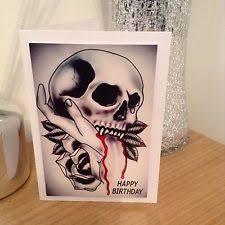 skull birthday card ebay