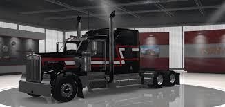 kenworth custom parts kenworth w900 custom black red and white skin mod american