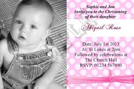 personalised girls photo christening invitations baptism invites