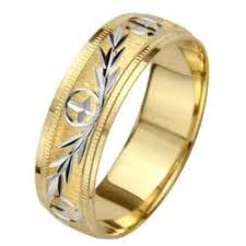 leaf wedding band 14k gold men s milligrain cross and leaf design wedding band