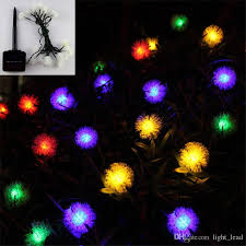 solar powered outdoor string lights 4 8m 20 led solar outdoor string fairy lights puffer ball waterproof