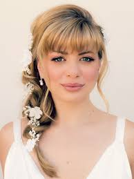 dressy hairstyles for medium length hair wedding hairstyles for medium length hair with bangs celeb