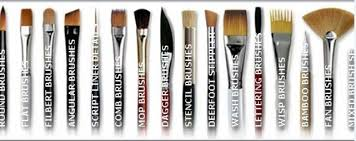 fan brush oil painting oem 8pcs artist paint brush set nylon hair brass chrome watercolor