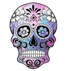 sugar skull clipart violet pencil and in color sugar skull