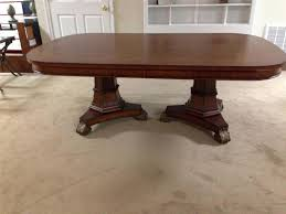incredible ideas double pedestal dining table homey idea