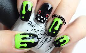 halloween swamp monster nails youtube