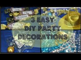 Homemade Decorations For New Year by Diy 3 Quick U0026 Easy Diy New Year Party Decorations Youtube