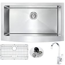 anzzi elysian farmhouse stainless steel 32 in single bowl kitchen