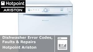 Hotpoint Dishwasher Manual Hotpoint Ariston Dishwasher Error Codes Flashing Lights Faults
