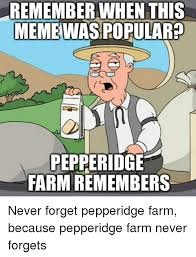Pepperidge Farm Meme - remember when this meme was popular pepperidge farm remembers