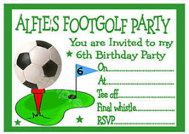 personalised footgolf foot golf birthday party invitations