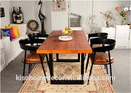 Metal Dining Room Chair Dining Room Furniture Type Industrial Wood Metal Dining Table And