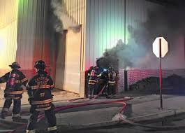 bally block factory damaged by sawdust fire no one injured the