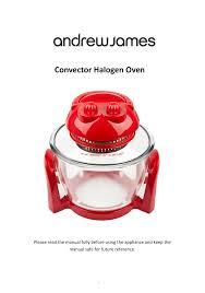 andrew james aj000012 7 litre premium halogen user manual 30 pages
